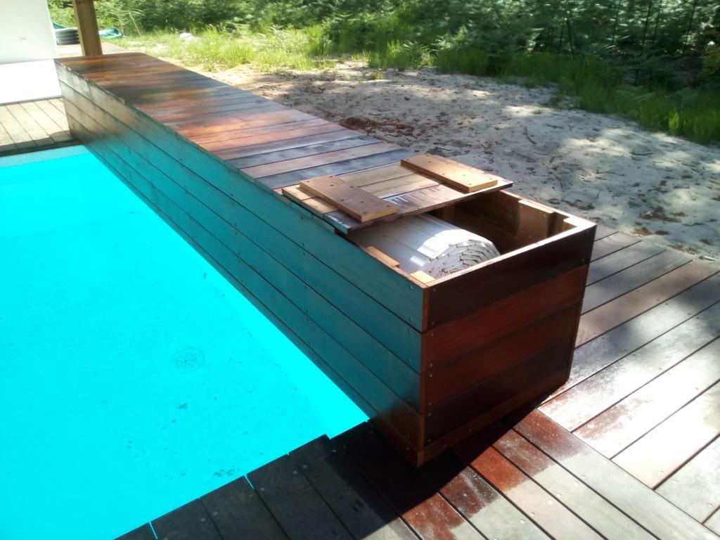Terrasse bois exotique landes terrasse bois moliets Coffre terrasse bois