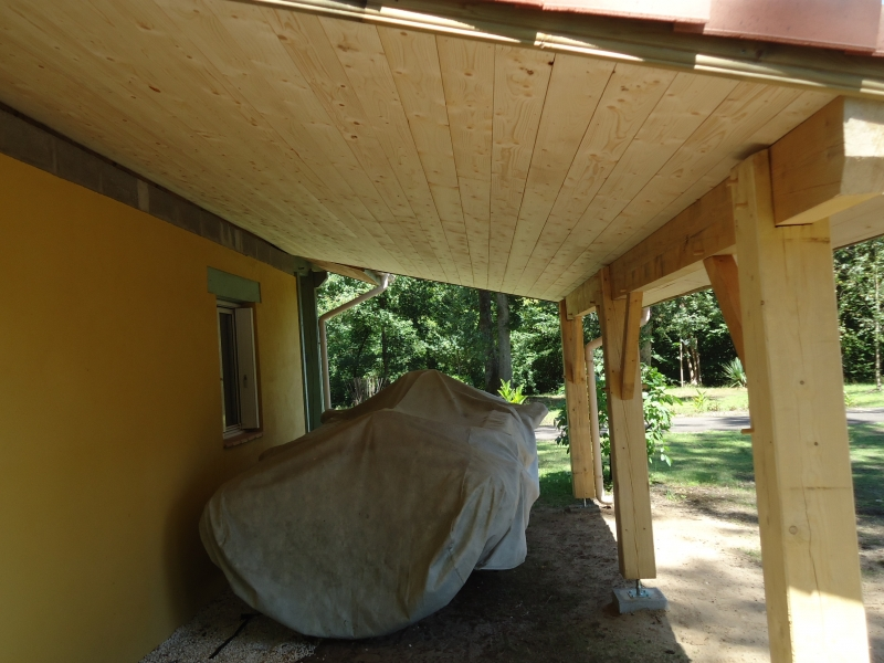 Construction appentis en bois landes for Plan construction appentis bois