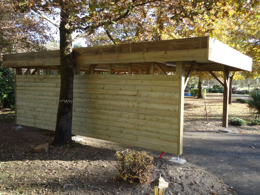 carport en bois rion des landes. Black Bedroom Furniture Sets. Home Design Ideas