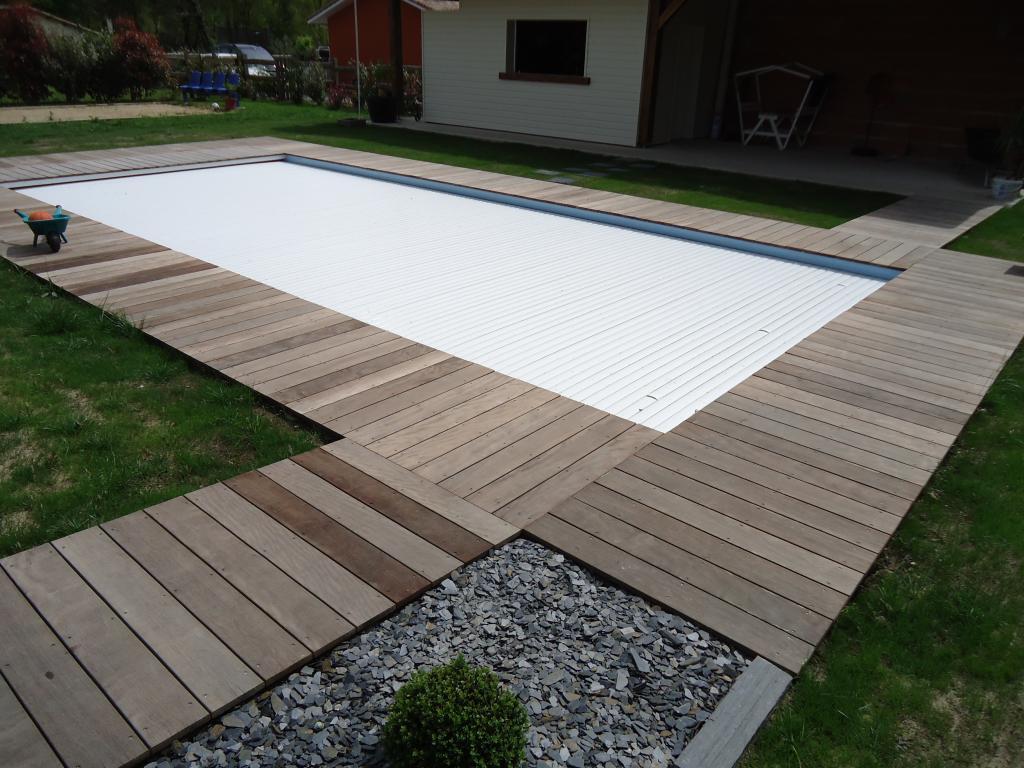 bois landes, tour de piscine en bois exotique, terrasse en itauba