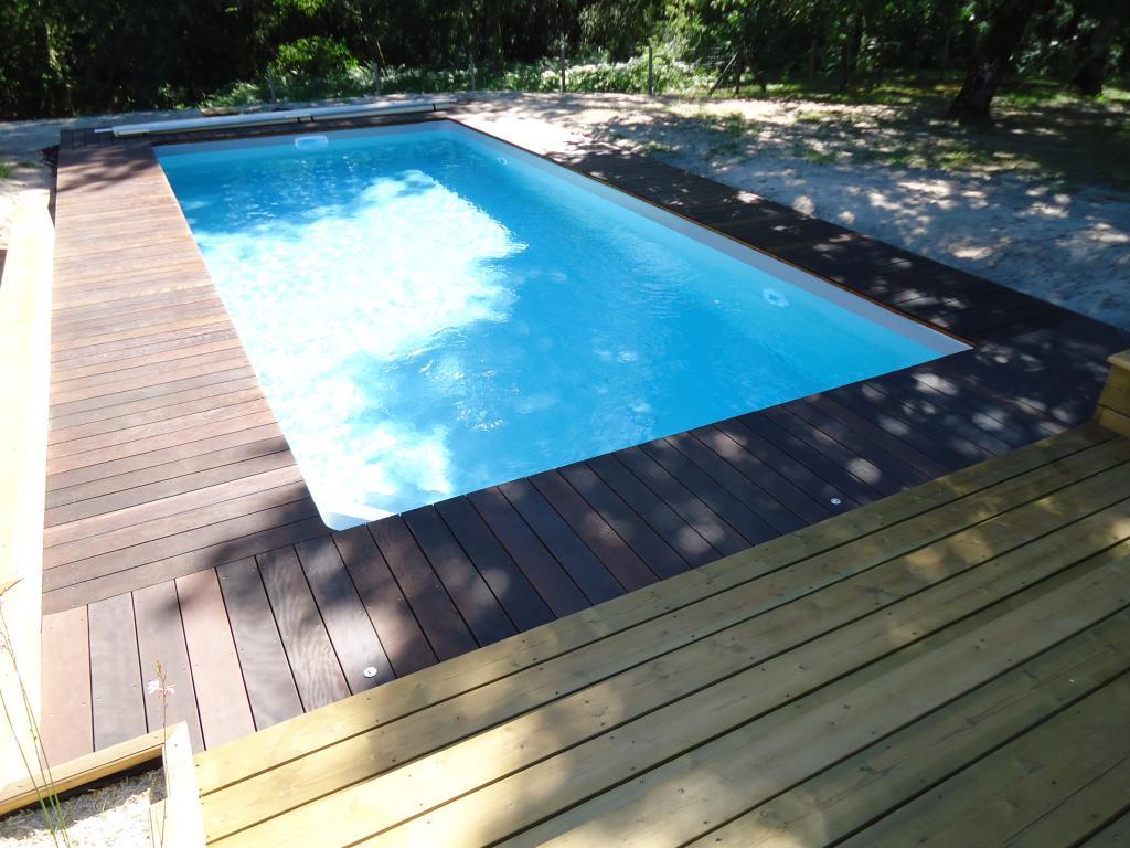pose terrasse pin, tour de piscine en Itauba bois exotique