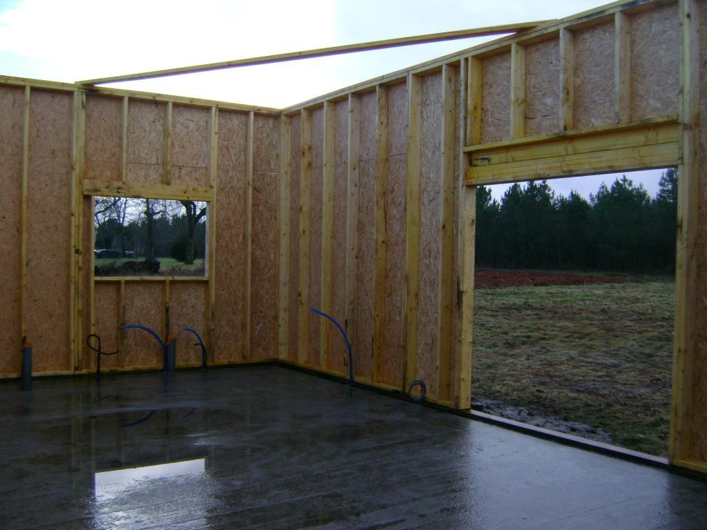 Construction maison bois landes 40 maison ossature bois for Interieur maison ossature bois
