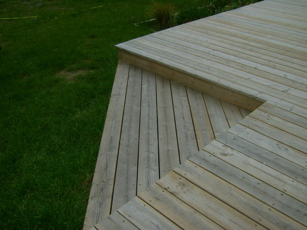 pose terrasse bois landes 40, terrasse en bois blanc