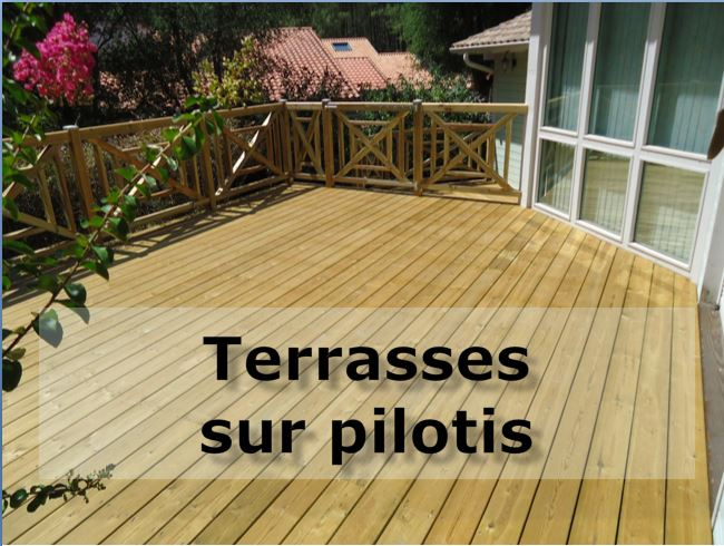nous ralisons des terrasses en bois neuves et nous intervenons aussi pour la rnovation de terrasses en bois - Construction D Une Terrasse En Bois Sur Pilotis