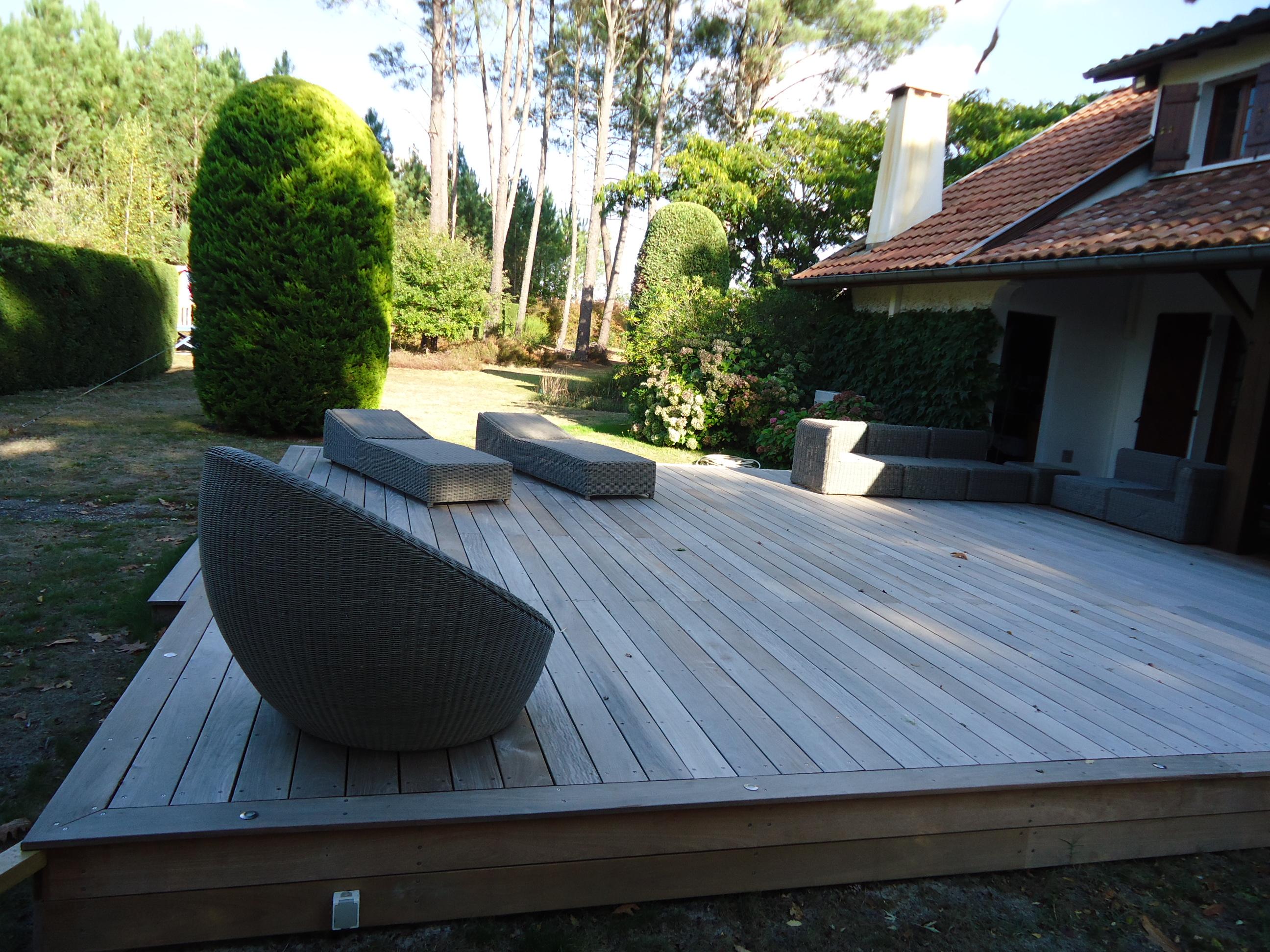 Pose terrasse bois  Terrasses de maison dans les Landes 40 et en