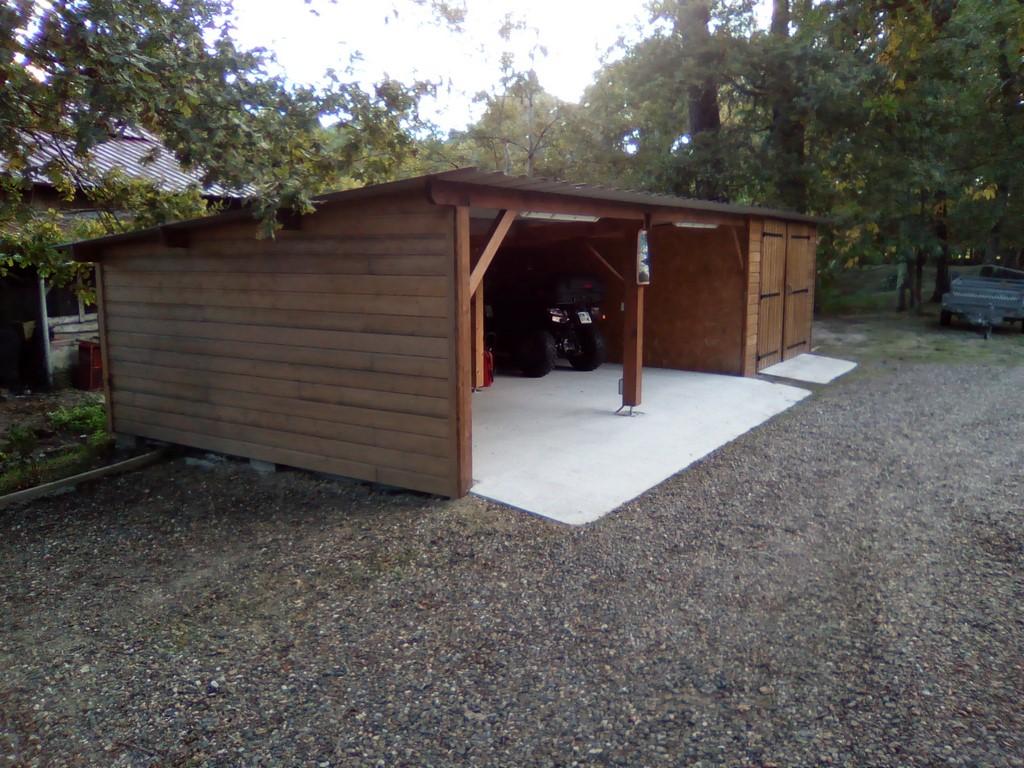 Deck 40 carport bois garages bois landes 40 gironde 33 for Garage bois traite