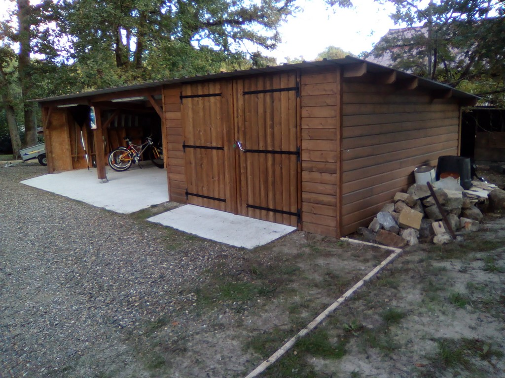 Deck 40 carport bois garages bois landes 40 gironde 33 for Garage en bois 20m2