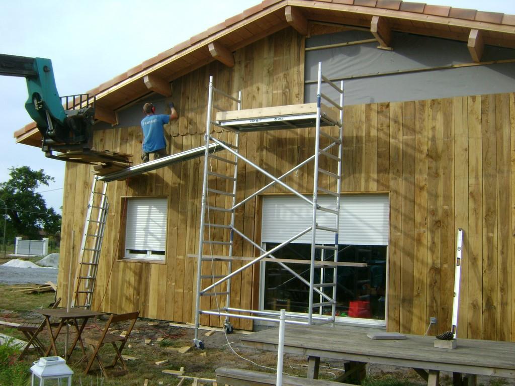 DECK 40  Maison ossature bois Landes, Constructeur maison bois Landes, Mimiz