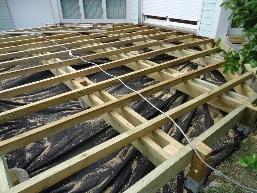 Structure Terrasse Bois Surélevée pose terrasse bois sur pilotis dans les landes, terrasse