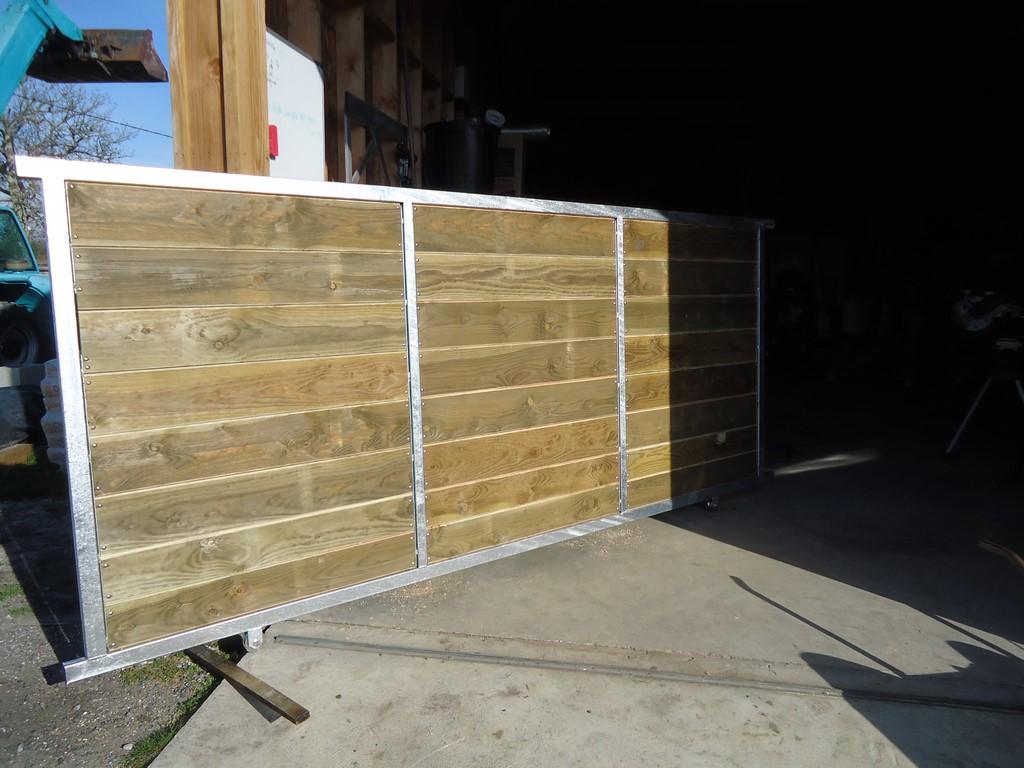 Faire Son Portail En Fer deck 40 : portails sur mesure en acier galvanisé et bois