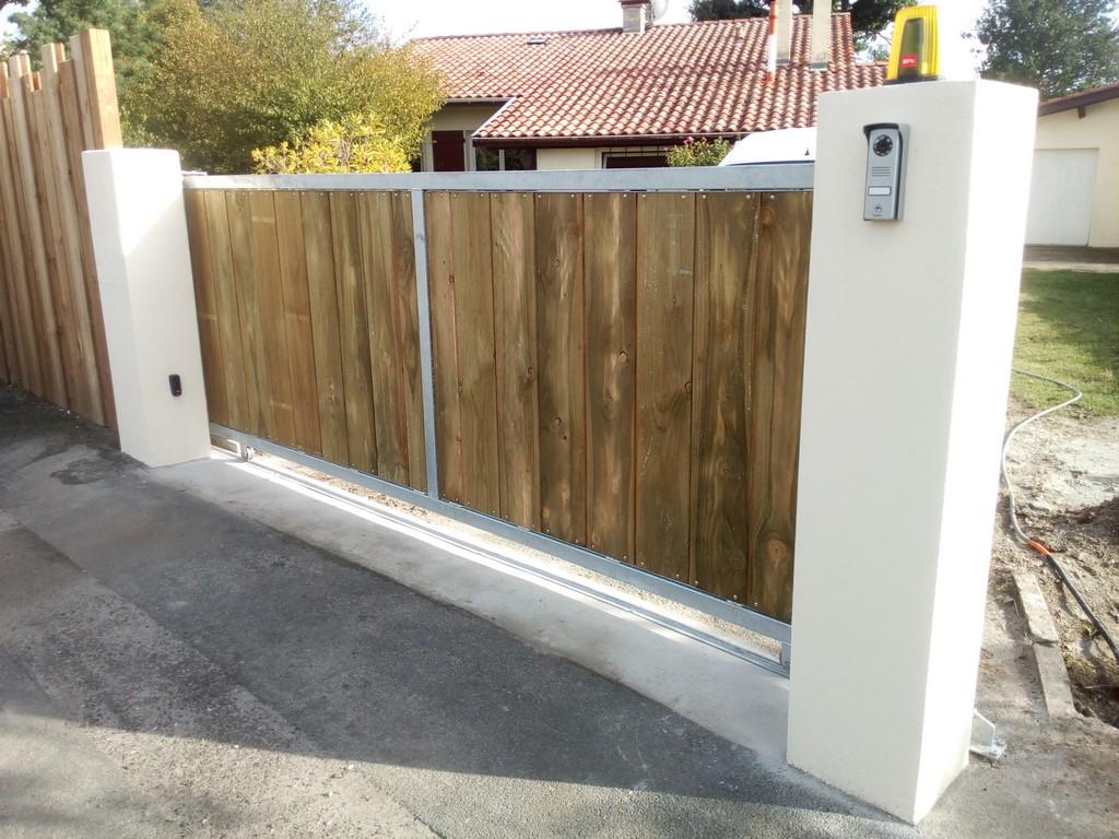 Terrasse Bois Et Fer deck 40 : portails sur mesure en acier galvanisé et bois